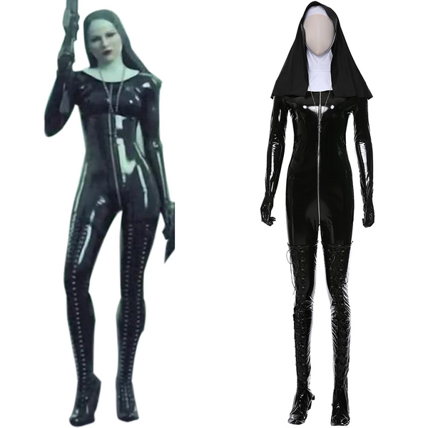Hitman 5: Absolution Rosewood Orphanage Nun Sister Uniform Cosplay Costume