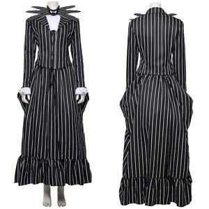 The Nightmare Before Christmas Jack Skellington Striped Outfit Cosplay Costume