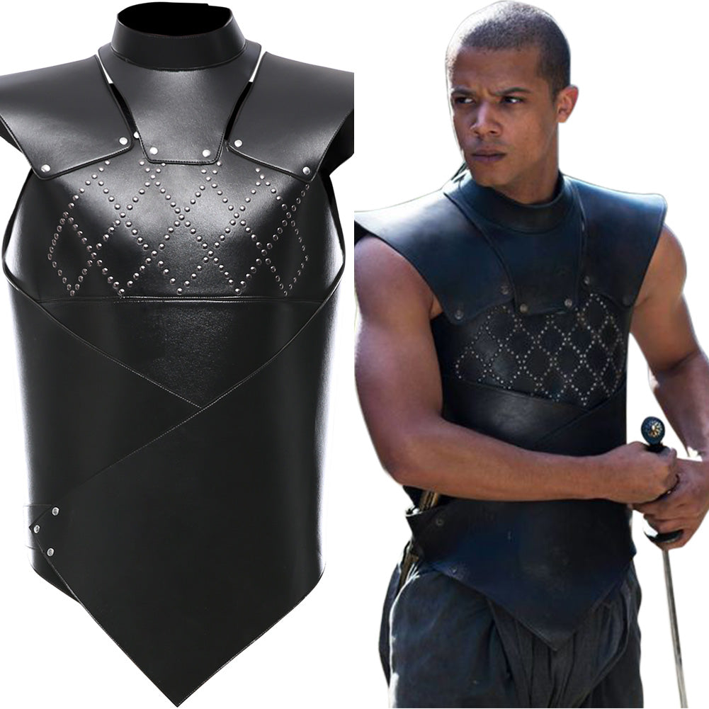 Gray Worm Vest Game of Thrones Suit Cosplay Costume
