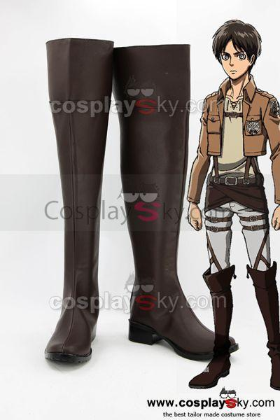 Shingeki no Kyojin Attack on Titan Eren Jaeger Cosplay Shoes Boots Custom Made