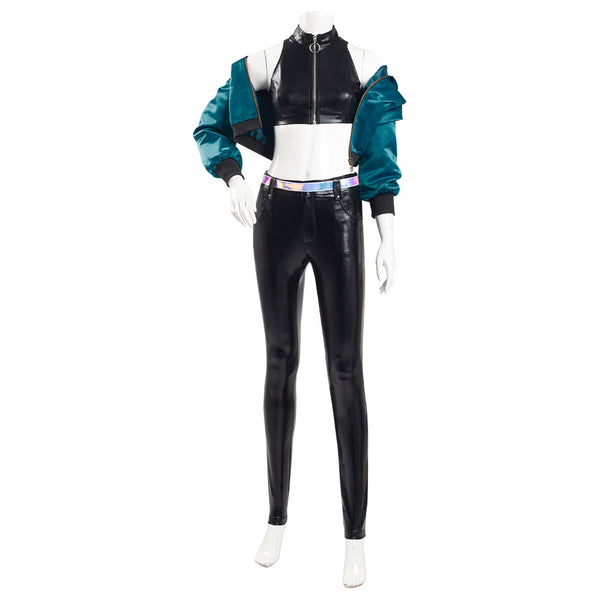 League of Legends LOL KDA Kaisa Cosplay Costume K/DA Group Coat Pants Outfits Halloween Carnival Suit