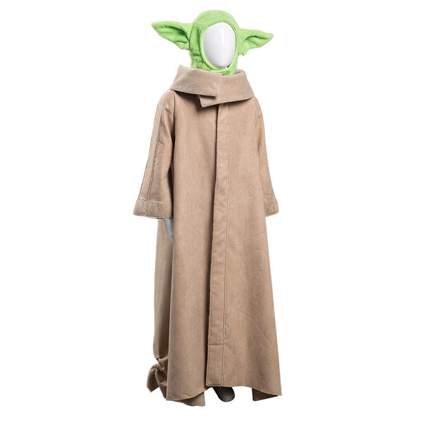 The Mandalorian -Baby Yoda Cosplay Costume Robe Hat Outfits Halloween Carnival Suit