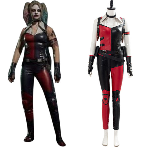 Cassie Cage Harley Quinn Skin Mortal Kombat 11 Cosplay Costume Halloween Suit Outfit