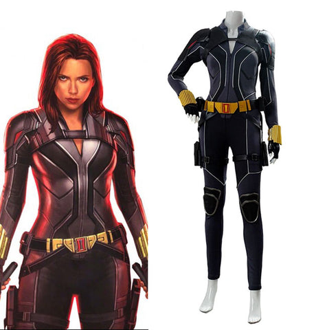 Natasha Romanoff Jumpsuit Black Widow 2020 Film Outfit Cosplay Costume