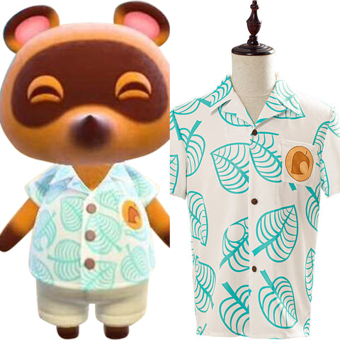 Tom Nook Animal Crossing Shirt Cosplay Costume