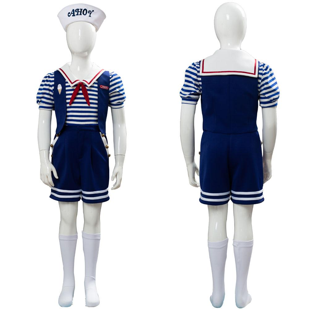 Stranger Things 3 Scoops Ahoy Robin Cosplay Costume For Kid