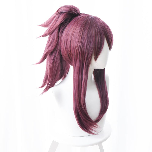 League of Legends The Rogue Assassin Akali K/DA Skin Cosplay Wig Purple