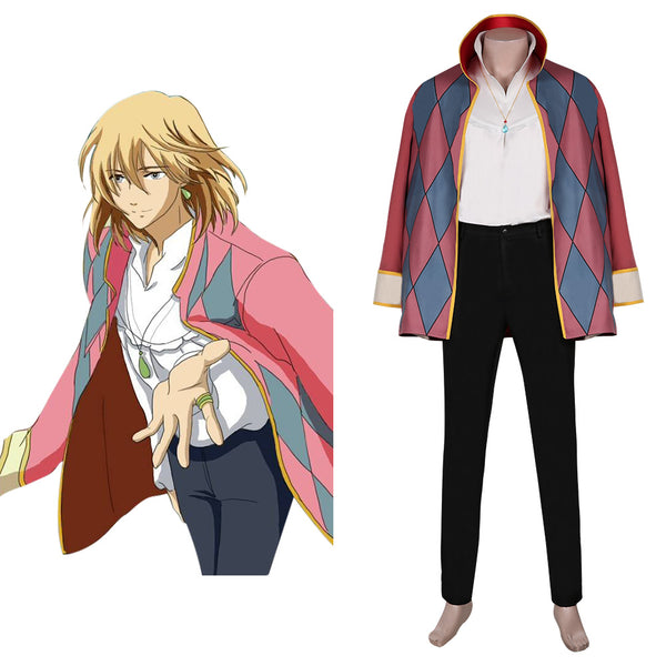 Movie Howl's Moving Castle-Howl Cosplay Costume Cloak Outfits Halloween Carnival Suit