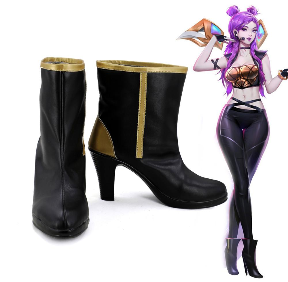 League of Legends Daughter of the Void Kaisa K/DA Skin Cosplay Shoes Boots