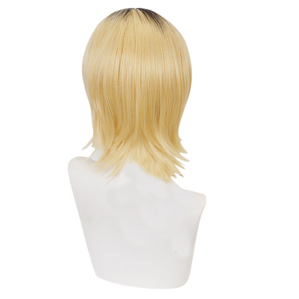 Haikyuu Kenma Kozume Cosplay Wig Short Yellow Hair Carnival Halloween Party Props
