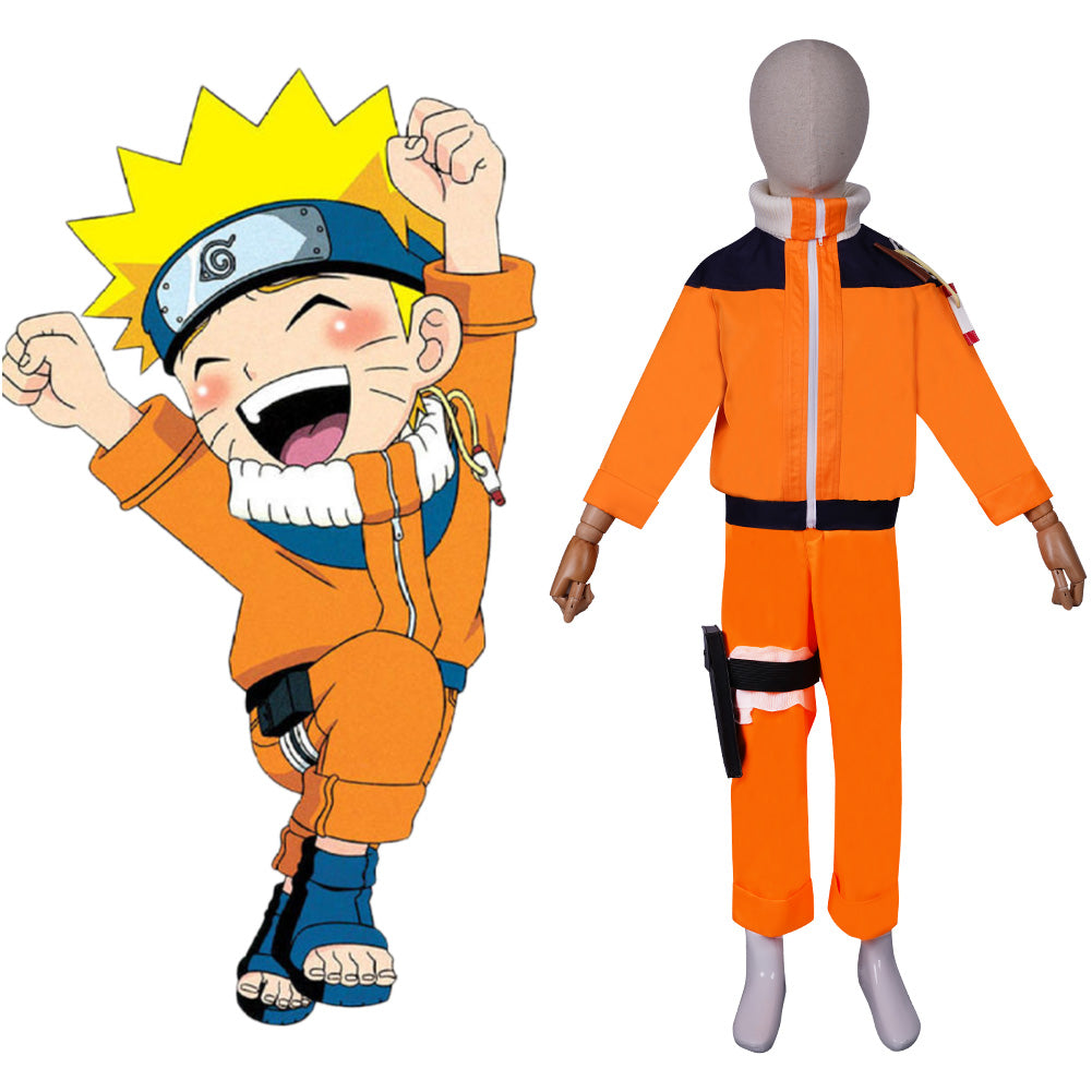 NARUTO ·Naruto Uzumaki Cosplay Costume KIds Children Top Pants Outfits Halloween Carnival Suit