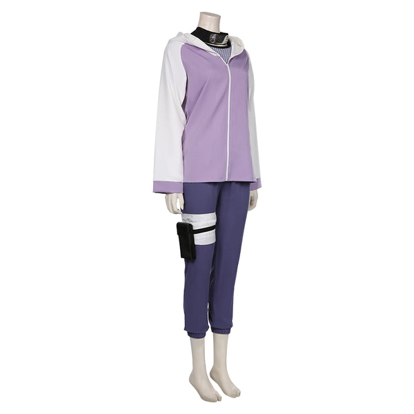 NARUTO-Hyūga Hinata Cosplay Costume Jacket Pants Outffits Halloween Carnival Suit