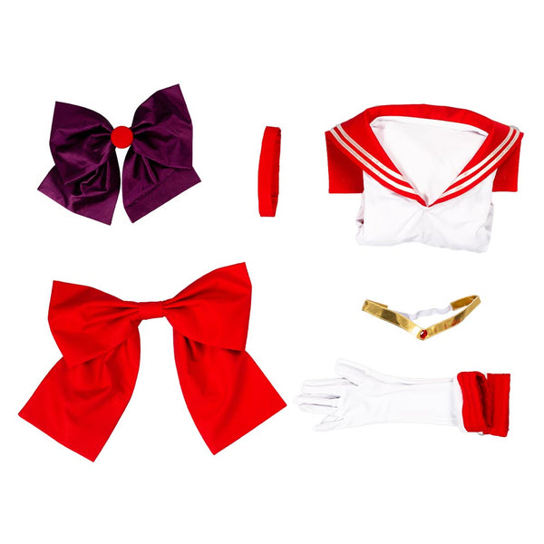 Sailor Moon Hino Rei Cosplay Costume Uniform Dress Outfits Halloween Carnival Suit