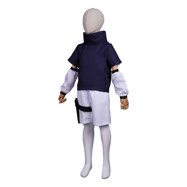 NARUTO Sasuke Uchiha Cosplay Costume Kids Children Top Pants Outfits Halloween Carnival Suit