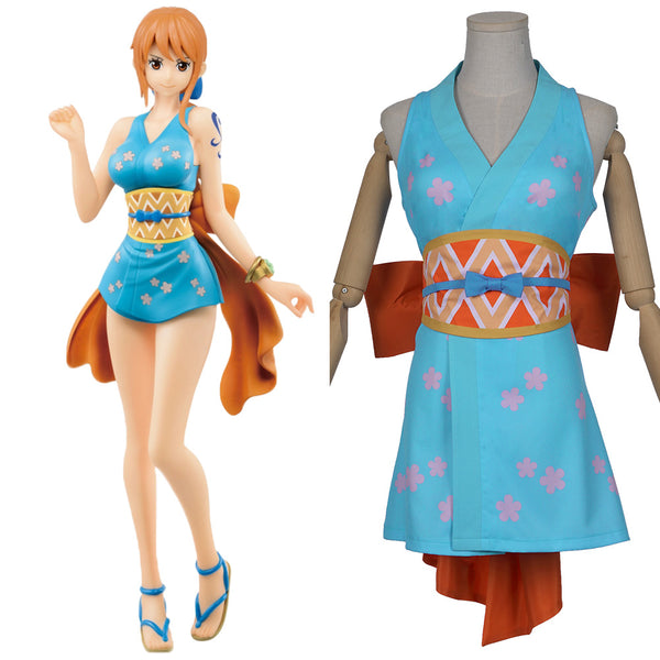 One Piece Wano Country Nami Halloween Carnival Costume Cosplay Costume Wanokuni Style Nami Cosplay Outfit