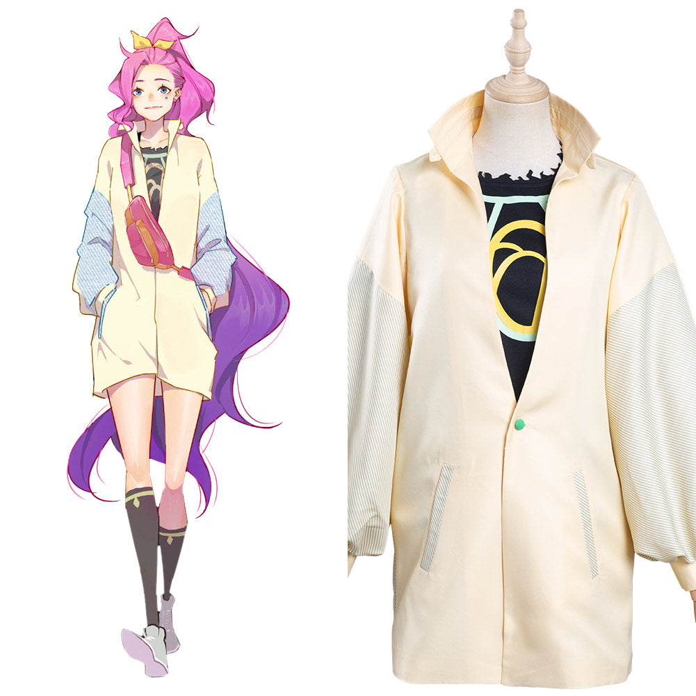 League of Legends LOL KDA Groups Seraphine Cosplay Costume Coat T-shirt Outfits Halloween Carnival Suit