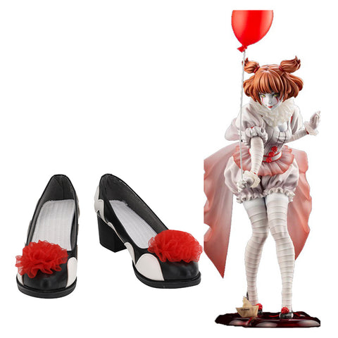 Women Stephen King's It Pennywise Cosplay Shoes Boots Halloween Costumes Accessory