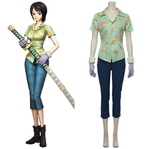 One Piece:Pirate Warriors 4 Tashigi Shirt Outfit Cosplay Costume Halloween Carnival Costume
