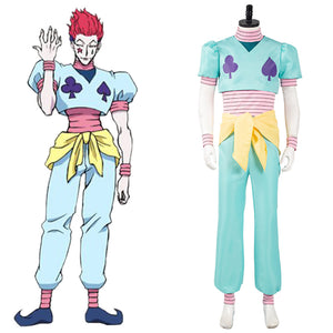 Hunter x Hunter Hisoka Cosplay Costume Top Pants Outfits Halloween Carnival Suit