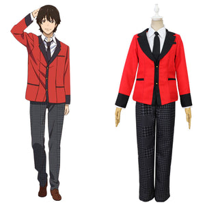 Kakegurui Ryouta Suzui Cosplay Costume Men School Uniform Outfits Halloween Carnival Suit