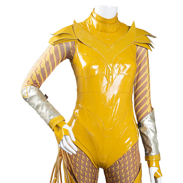 Wonder Woman 1984 Cosplay Costume Gold Jumpsuit Battle Suit WW84 Halloween Carnival Costume