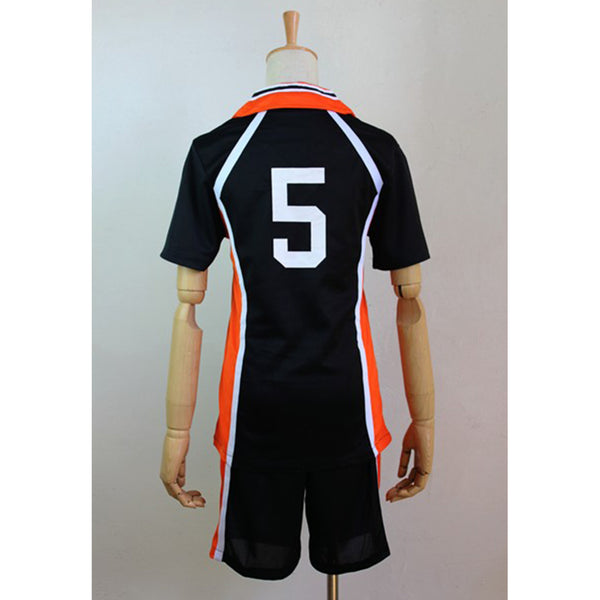 Haikyuu Cosplay Costume Karasuno High School Volleyball Club Tanaka Ryunosuke Sportswear Jerseys Uniform