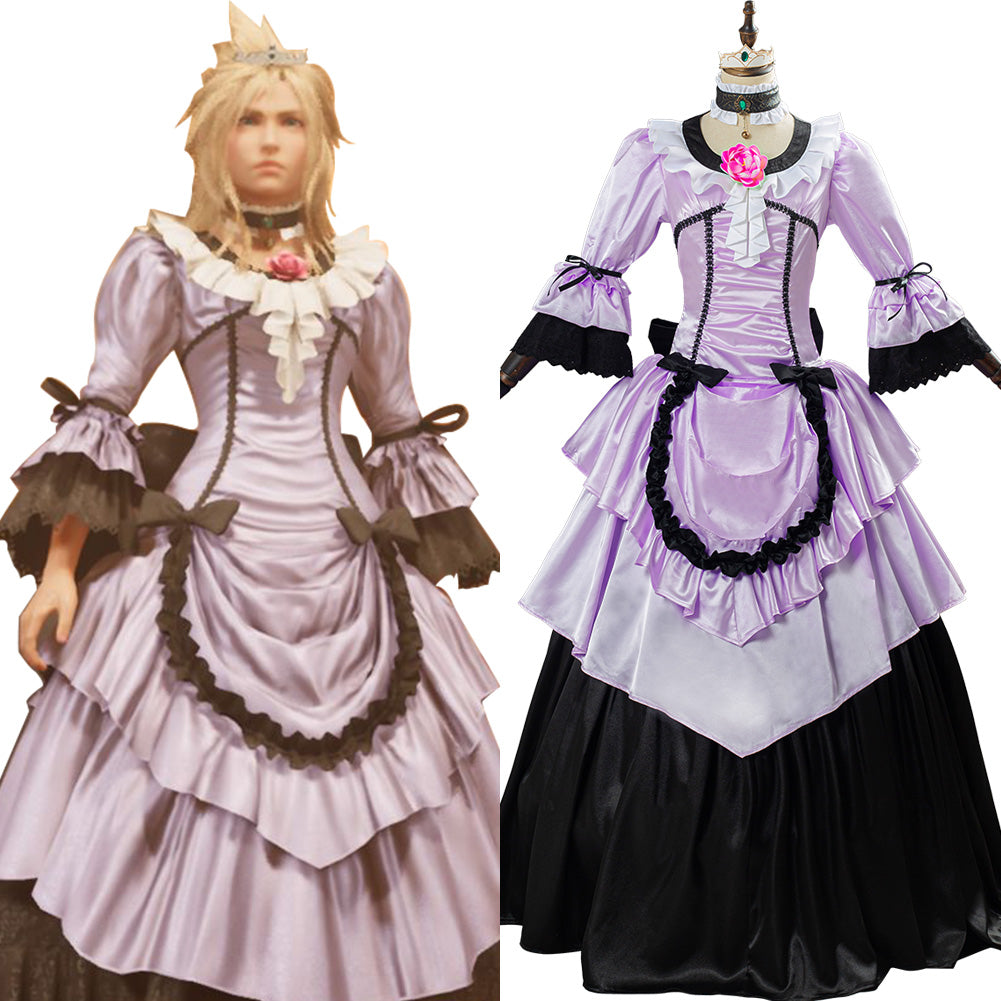Game Final Fantasy VII Remake Cloud Strife Women Dress Cosplay Costume Halloween Carnival Outfit