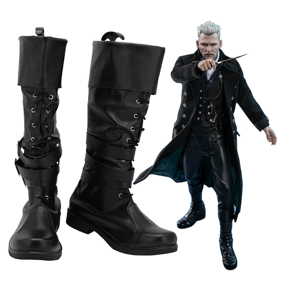 Fantastic Beasts: The Crimes of Grindelwald Gellert Grindelwald Cosplay Shoes Boots Halloween Costumes Accessory