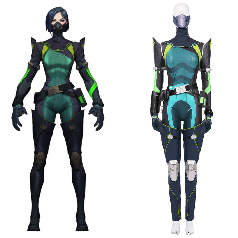 Game VALORANT Viper Cosplay Costume Women Jumpsuit Suit Halloween Carnival Outfit