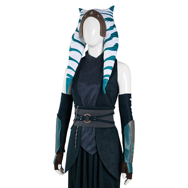 The Mandalorian S2 Ahsoka Tano Cosplay Costume Top Pants Outfits Halloween Carnival Suit