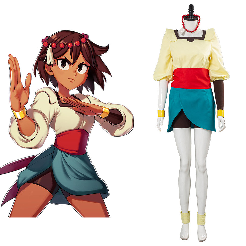 Game Indivisible Ajina Cosplay Costume Uniform Outfits Halloween Carnival Costume