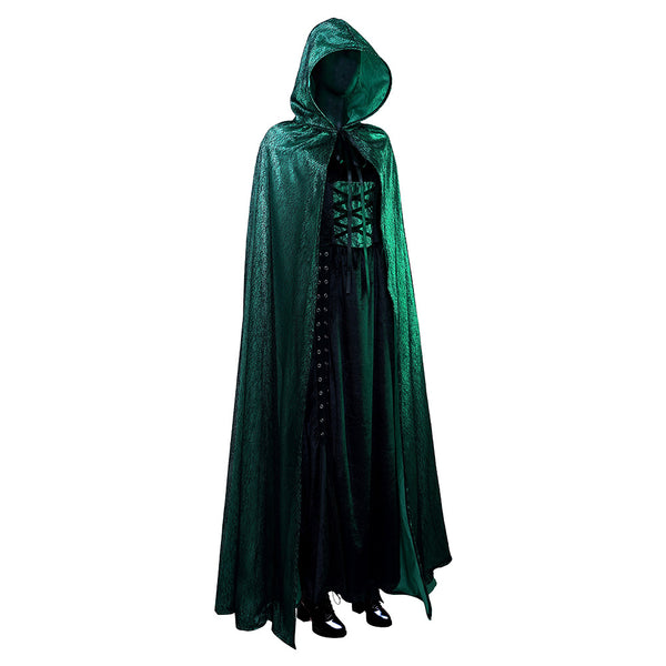 Emerald Sorceress Cosplay Costume Cloak Dress Outfits Halloween Carnival Suit