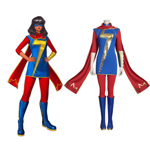 Marvel's Avengers-Ms. Marvel (Kamala Khan) Cosplay Costume Women Uniform Outfits Halloween Carnival Suit