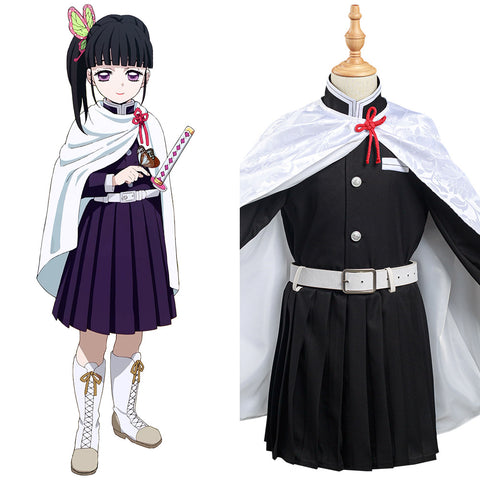 Demon Slayer: Kimetsu no Yaiba Tsuyuri Kanawo Cosplay Costume Kids Girls Skirt Cloak Outfits Halloween Carnival Suit