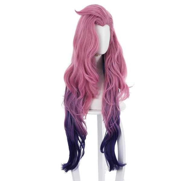 League of Legends LOL KDA Groups Seraphine Long Curly Wig Cosplay Wigs