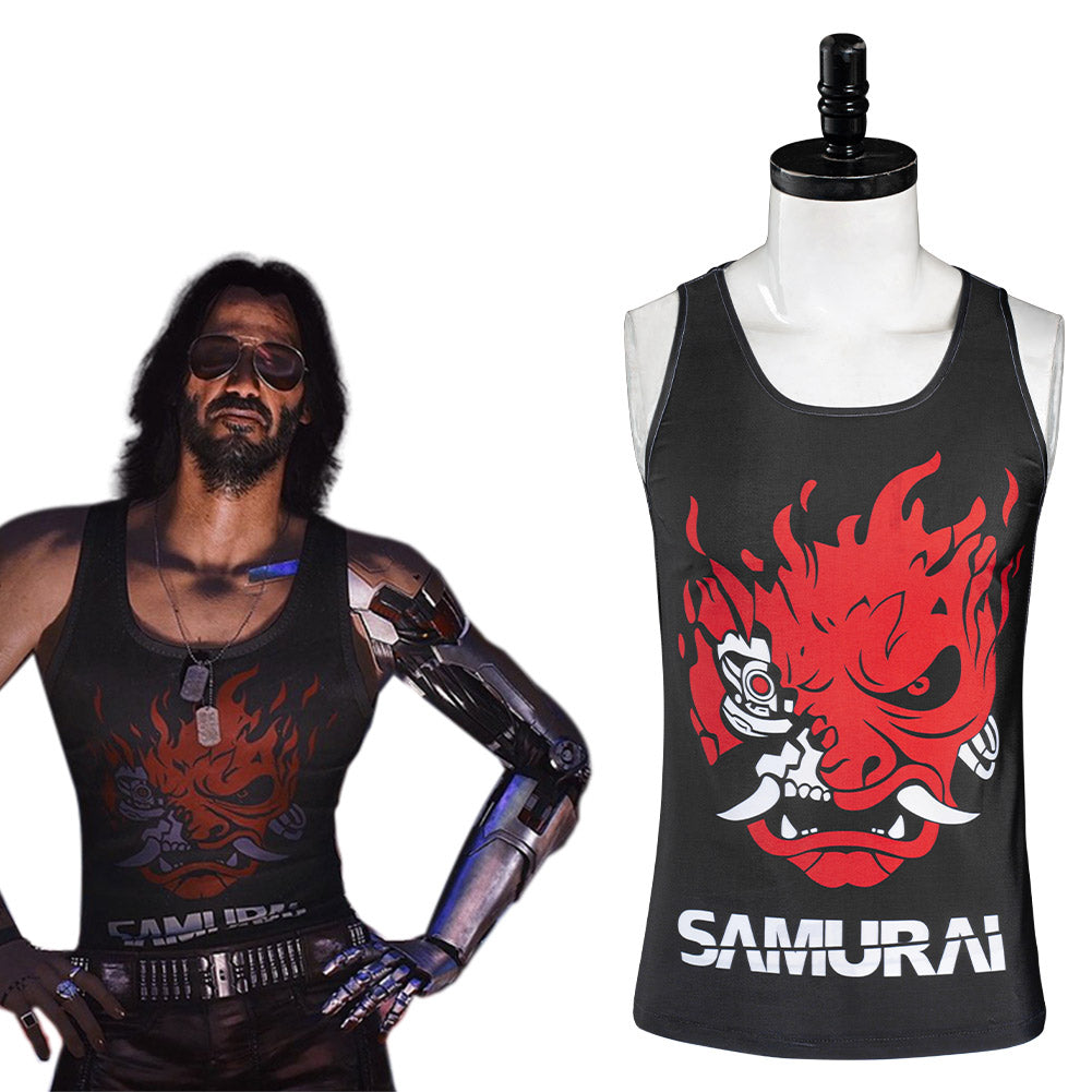 Game Cyberpunk 2077 Johnny Silverhand Vest Cosplay Costume