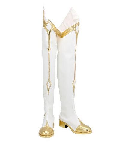 Genshin Impact Traveler Geo Boots Halloween Costumes Accessory Cosplay Shoes