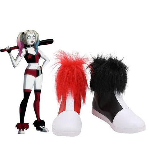 2019 Anime Harley Quinn Boots Costume Props Halloween Carnival Party Shoes Cosplay Shoes