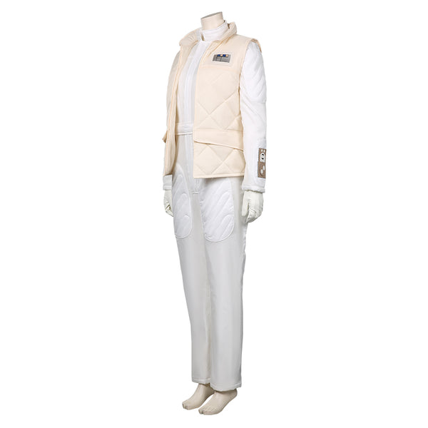 Star Wars-Leia Organa Solo Cosplay Costume Jumpsuit Vest Outfits Halloween Carnival Suit