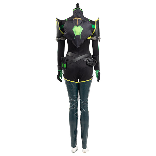 Valorant Viper Cosplay Costume Women Jumpsuit Romper Suit Halloween Carnival Outfit