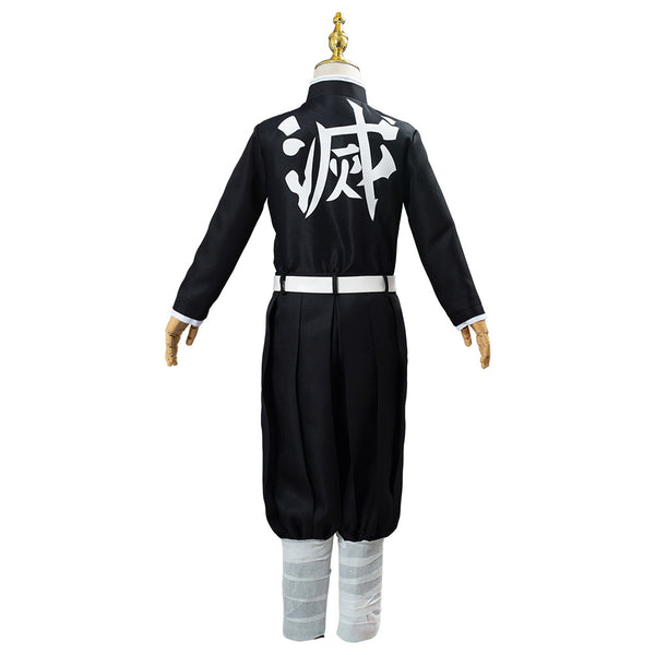 Anime Demon Slayer Kimetsu no Yaiba Tomioka Giyuu Kids Children Uniform Outfit Cosplay Costume