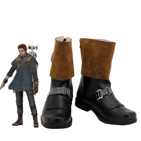 Star Wars Jedi: Fallen Order Cal Kestis Cosplay Shoes Boots Halloween Costumes Accessory