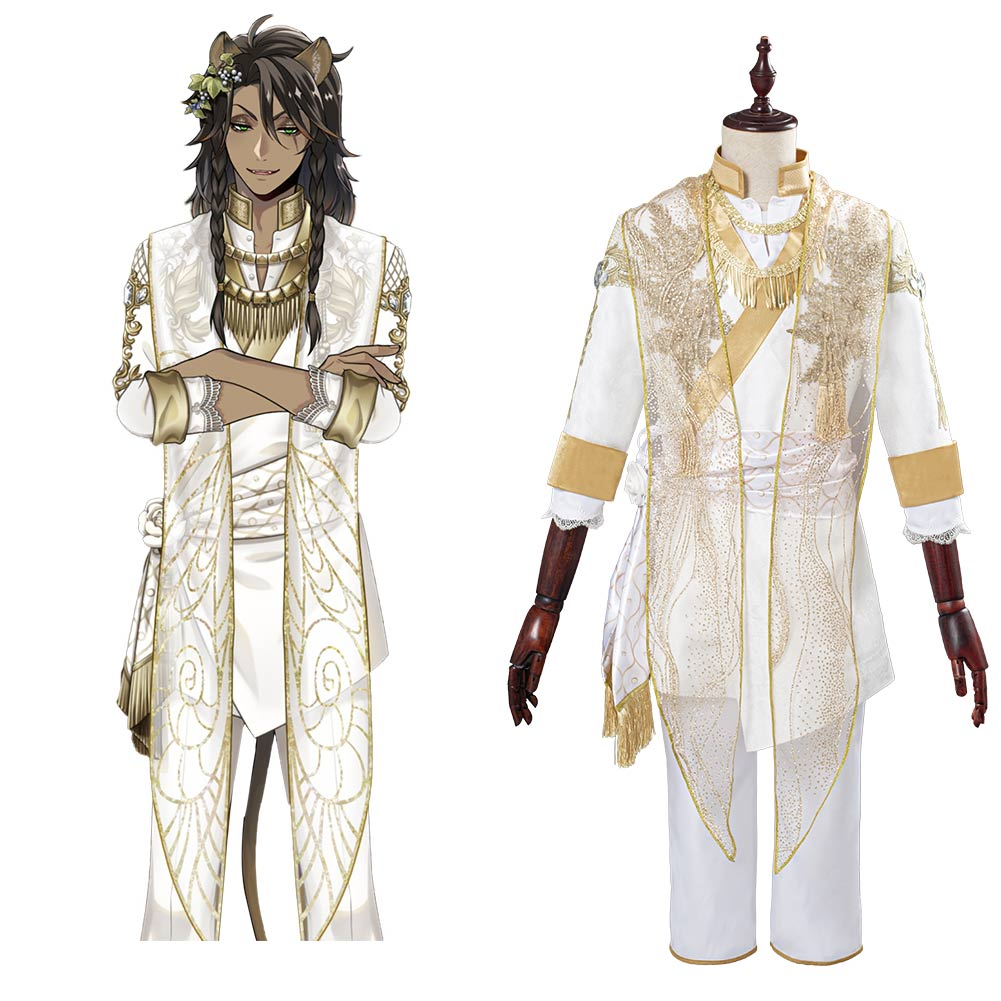 Twisted-Wonderland Leona Kingscholar Cosplay Costume Outfits Halloween Carnival Suit