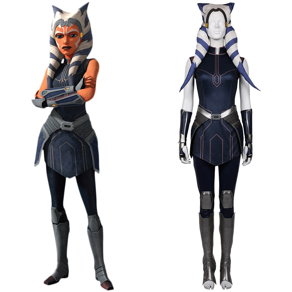 Star Wars: The Clone Wars Season 7-Ahsoka Tano Cosplay Costume Dress Outfits Halloween Carnival Suit