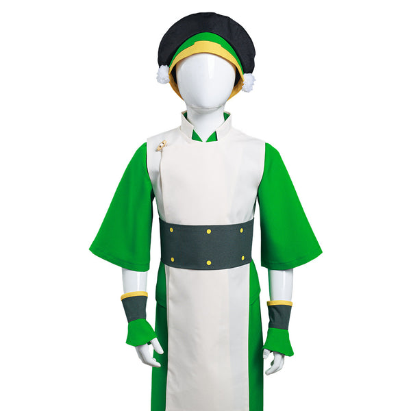 Avatar: The Last Airbender Toph bengfang Cosplay Costume Kids Children Vest Pants Outfits Halloween Carnival Suit