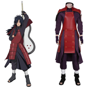 NARUTO-Uchiha Madara Cosplay Costume Top Pants Outfits Halloween Carnival Suit