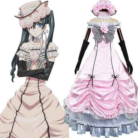 Anime Black Butler Ciel Phantomhive Cosplay Costume Dress Outfits Halloween Carnival Suit
