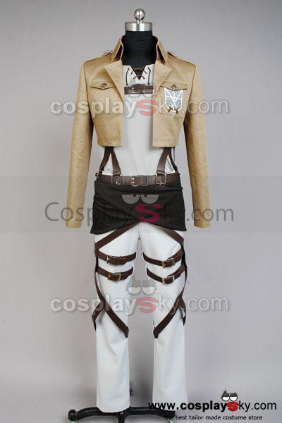 Shingeki no Kyojin Attack on Titan Eren Jaeger Cosplay Costume