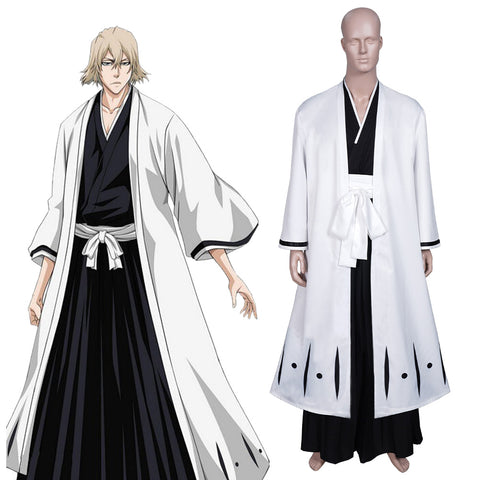 Anime Bleach Urahara Kisuke Cosplay Costume Coat Pants Outfits Halloween Carnival Suit