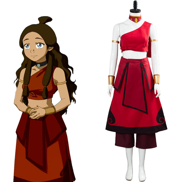 Avatar: the last Airbender Katara Women Dress Outfit Cosplay Costume Halloween Carnival Costume